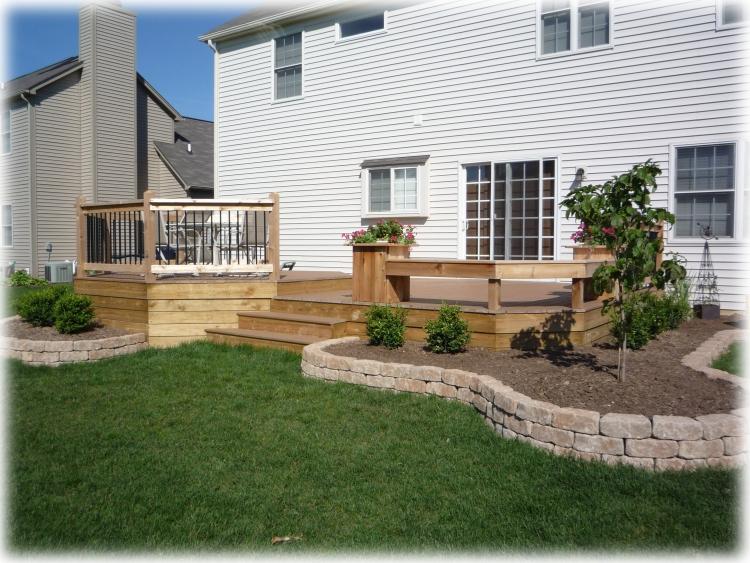 Decks by design custom deck pergola builder fishers for Garden decking near me
