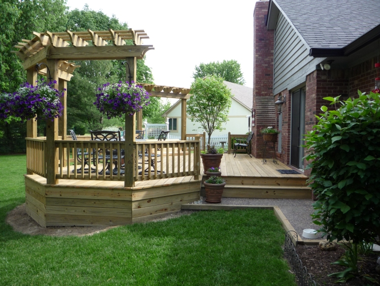 Custom Built Deck Designs Kids Art Decorating Ideas