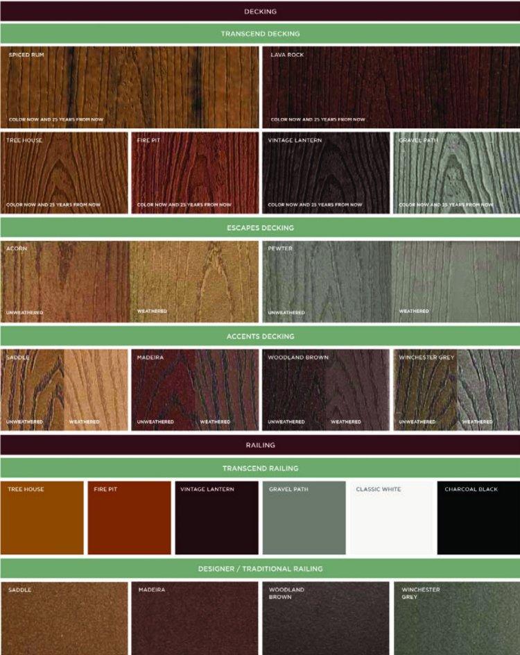 Trex colors 28 images seven trex transcend decking for Composite decking colors