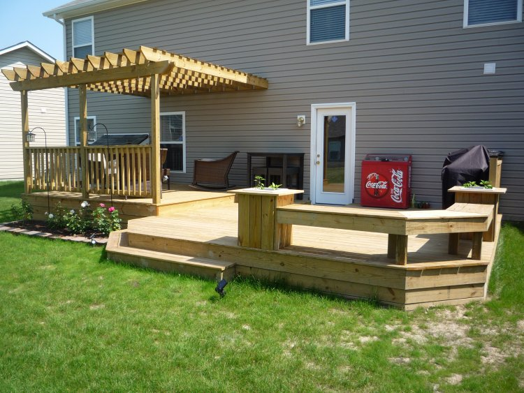 12 X Party Deck With 12x12 Shaded Upper Arbor